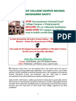 Handbill - Ismail Yusuf College Campus Bachao Sangharsh Samilti - 17.3.2015
