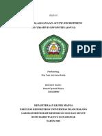 Referat - Penatalaksanaan Acute Necrotising Ulcerative Gingivitis
