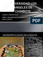 HIDROLOGIA CLASE 3 Parametros de Una Cuenca