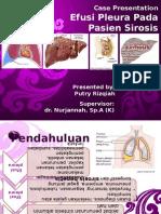 Efusi Pleura Pada Sirosis Hepatis