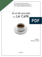 Plan de Afaceri - Le Cafe