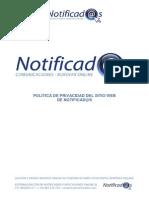 POLÍTICA DE PRIVACIDAD DEL SITIO WEB DE NOTIFICAD@S
