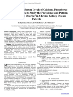 Measurement of Serum Levels of Calcium, Phosphorus and Parathormone to Study the Prevalence and Pattern of Mineral Bone Disorder in Chronic Kidney Disease Patients