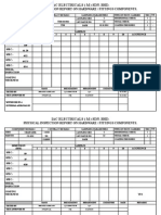 (1) Physical Inspection Report on Hardware - Fittings Components.