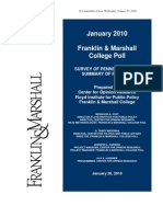 Franklin and Marshall College Poll Release State Jan2010