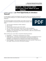 3 - Your Cover Letter