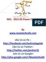 Www.newstechcafe.com NICL 2015 GK Power Capsule