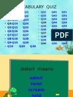 Presentation Vocabulary Quiz