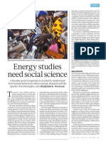 Energy studies need social sciences