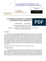 An Empirical Study on Assessment of Co Attainment for a Diploma Course