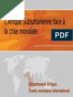 L'Afrique Subsaharienne Face à La Crise Mondiale