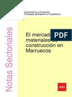 Nota Sectorial. El Mercado de Materiales de Construcción en Marruecos