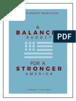 FY 2016 Budget Resolution
