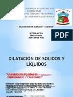 Dilatacion de Solidosy Liquidos11