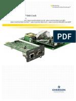 Liebert IntelliSlot ®  Web Cards