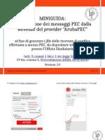 Miniguida Esportazione Messaggi Webmail ArubaPEC