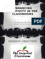 Enhancing Creativity in the classrooms