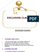 Exclusion Clauses