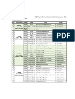 Final Exam Schedule EMBA Spring Semester 2015
