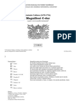 Magnificat C-dur / Antonio Caldara