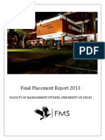 Placement Report 2013