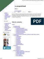 Lógica proposicional - Wikillerato