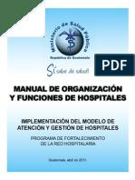 Manual de Organizacion y Funciones de Hospitales
