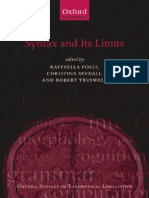 Syntax and Its Limits