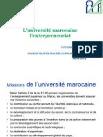 Universite Marocaine Et Entrepreneuriat Daghay Rachid Rachid Zammar Mars 2015