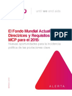 El Fondo Mundial Actualiza las Directrices y Requisitos del MCP para el 2015