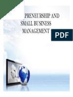 Starting a Small Enterprise