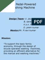 Bicycle Operated Washing Machine