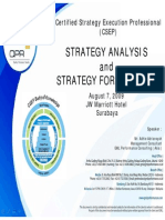 2) Strategy Analysis.& Formulation