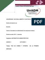 Matematicas Administrativas Unidad 3 Actividad 1 - MAD_U3_A1