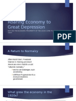 roaring economy to great depression
