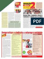 1ª Jornal da chapa 2 Oposição Unificada pra mudar