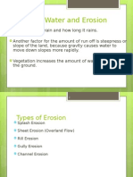 Surface Water and Erosion