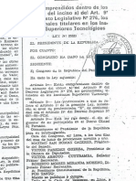 Cambio de Grupo Ocupacioanl al Tecnico Ministro de Salud Ley 25333 y Deferentes Leyes Para Su Cumplimiento