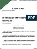 Los Diez Días de Asedio Durante La Guerra Civil en La Poblacion de Onda _ Antropología – Castellón de La Plana y Su Entorno