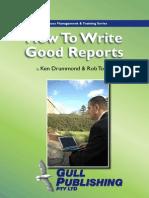 Como Escribir Un Reporte
