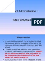 CA I - Section C - 2 - Clauses Related to Site Possession W8H1