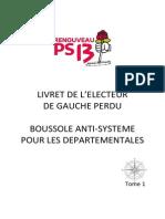 LIVRET DE L'ELECTEUR DE GAUCHE PERDU - BOUSSOLE ANTI-SYSTEME POUR LES DEPARTEMENTALES