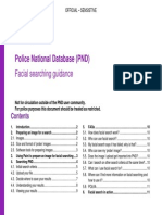 Facial recognition search on the Police National Database
