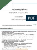 NSDC Innovation Business Models
