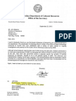 Sec. Carlisle Letter to Intersal Re