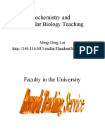 Biochemistry and Molecular Biology Teaching