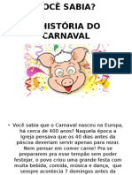 História Do Carnaval