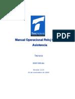 Manual Operacional Reloj Control Asistencia v1.0.0