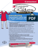 Canesten Guide Athlete's Foot