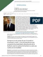 """La Gran Sorpresa Ha Sido La Crisis Del Islam"" _ Internacional _ EL PAÍS"
